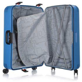 Βαλίτσα σκληρή σιέλ 4 ρόδες  μεγάλη Dielle PPL 870 75 cm, εσωτερικό