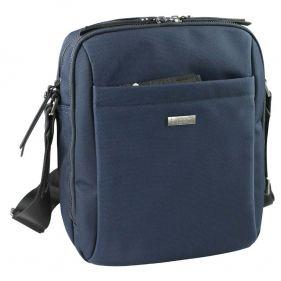 Τσάντα ώμου ανδρική Bugatti Contratempo Medium Shoulder Bag μπλε