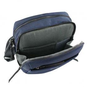 Τσάντα ώμου ανδρική Bugatti Contratempo Medium Shoulder Bag μπλε, εσωτερικό