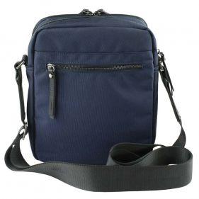 Τσάντα ώμου ανδρική Bugatti Contratempo Medium Shoulder Bag μπλε, πίσω όψη
