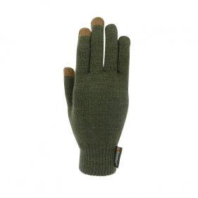 Γάντια πλεκτά unisex Extremities Thinny Touch Glove, πράσινα, πάνω όψη