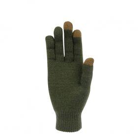 Γάντια πλεκτά unisex Extremities Thinny Touch Glove, πράσινα, κάτω όψη