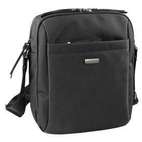 Τσάντα ώμου ανδρική Bugatti Contratempo Medium Shoulder Bag μαύρη