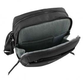 Τσάντα ώμου ανδρική Bugatti Contratempo Medium Shoulder Bag μαύρη, εσωτερικό