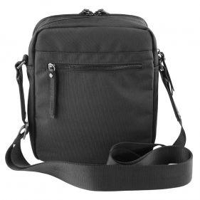 Τσάντα ώμου ανδρική Bugatti Contratempo Medium Shoulder Bag μαύρη, πίσω όψη