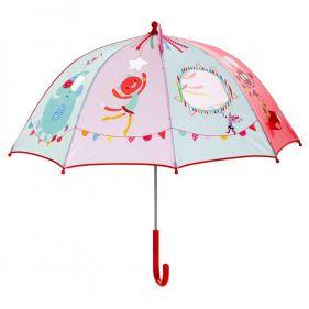 Ομπρέλα παιδική χειροκίνητη τσίρκο Lilliputiens Circus Unbrella