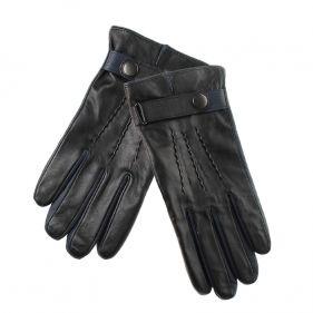Γάντια ανδρικά δερμάτινα δίχρωμα Guy Laroche
