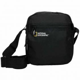Τσαντάκι ώμου ανδρικό μαύρο National Geographic Transform Utility Bag Black