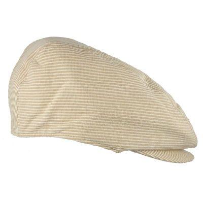 Καπέλο τραγιάσκα ανδρικό καλοκαιρινό μπεζ ριγέ Kangol Stripes Hudson Cap, δεξιά όψη