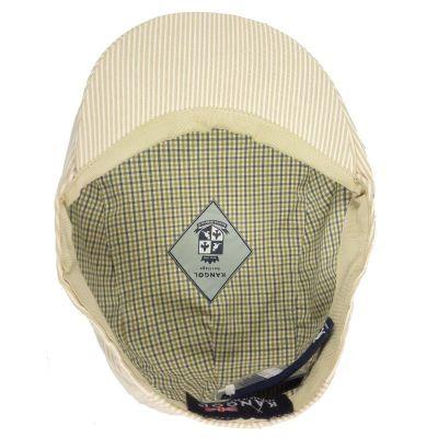 Καπέλο τραγιάσκα ανδρικό καλοκαιρινό μπεζ ριγέ Kangol Stripes Hudson Cap, εσωτερεικό