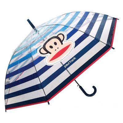 Ομπρέλα μεγάλη αντιανεμική διάφανη ριγέ Paul Frank