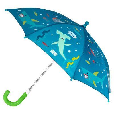 Ομπρέλα παιδική που χωματίζεται στη βροχή καρχαρίας Stephen Joseph Color Changing Umbrella Shark.