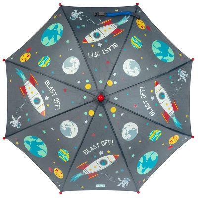 Ομπρέλα παιδική που χρωματίζεται στη βροχή διάστημα Stephen Joseph Color Changing Umbrella Space, χρωματισμένη.