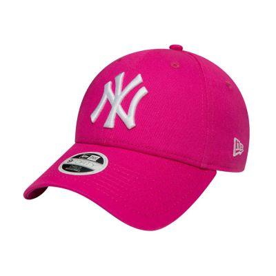 Summer Cotton Kids' Cap New York Yankees New Era 9Forty League Essential Fuchsia