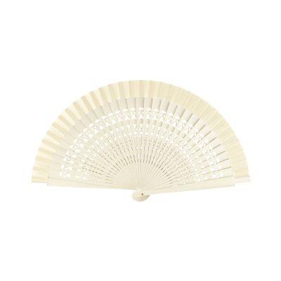 Wooden Small Perforated Fan Joseblay Ecru