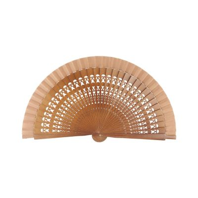 Wooden Small Perforated Fan Joseblay Brown
