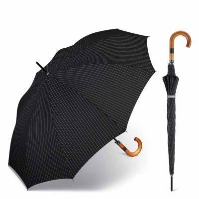 Long Automatic Umbrella Happy Rain Gents AC 10 Needle Stripe