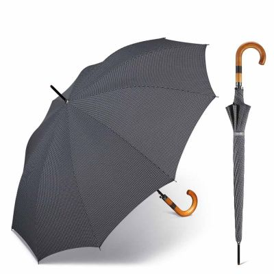 Long Automatic Umbrella Happy Rain Gents AC 10 Pepita